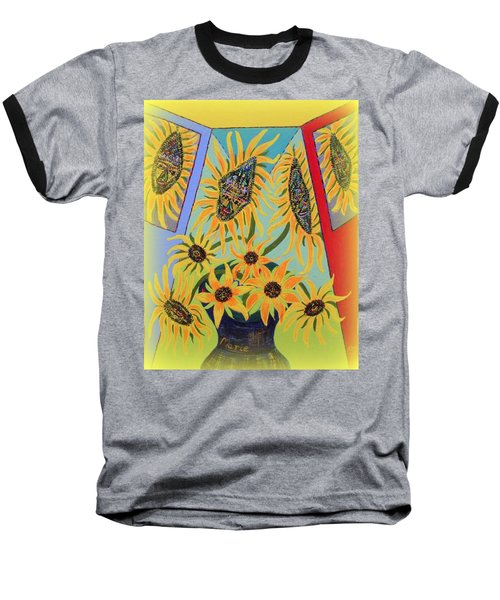 Sunflowers Rhapsody Baseball T-Shirt