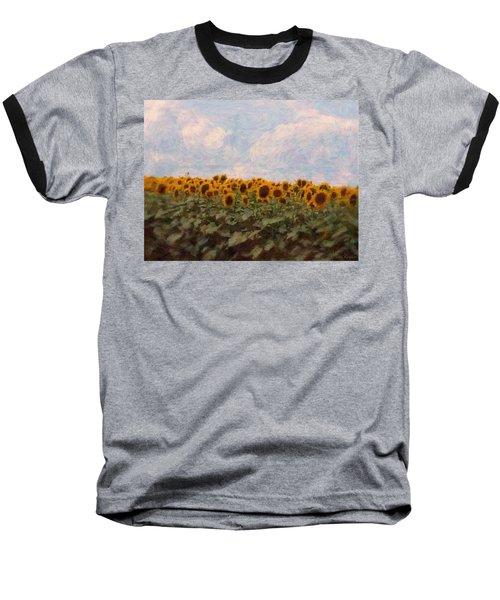 Baseball T-Shirt featuring the photograph Sunflowers by Robin Regan