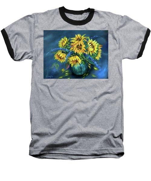 Sunflowers Still Life Baseball T-Shirt