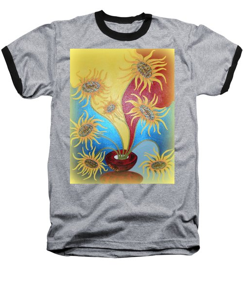 Sunflowers Symphony Baseball T-Shirt