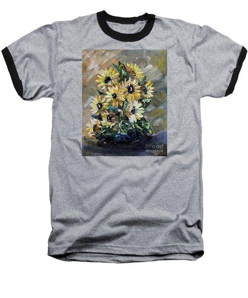 Sunflowers Baseball T-Shirt by Teresa Wegrzyn