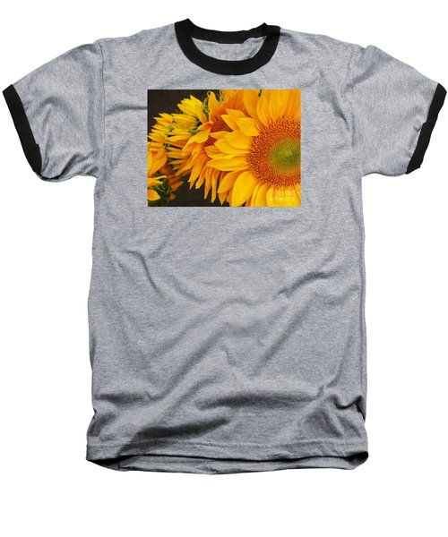 Sunflowers Train Baseball T-Shirt