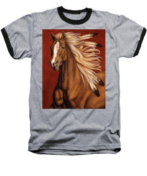 Baseball T-Shirt featuring the painting Sunhorse by Pat Erickson