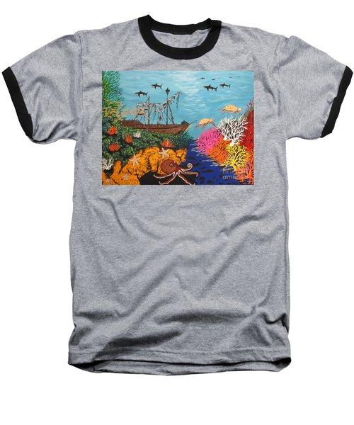 Sunken Treasure Ship Baseball T-Shirt