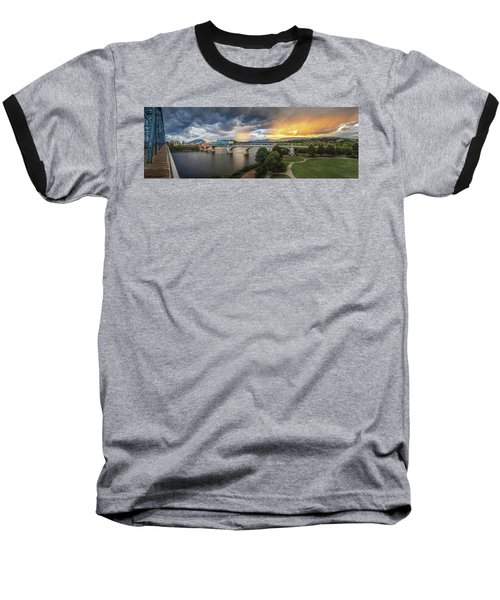 Sunlight And Showers Over Chattanooga Baseball T-Shirt by Steven Llorca
