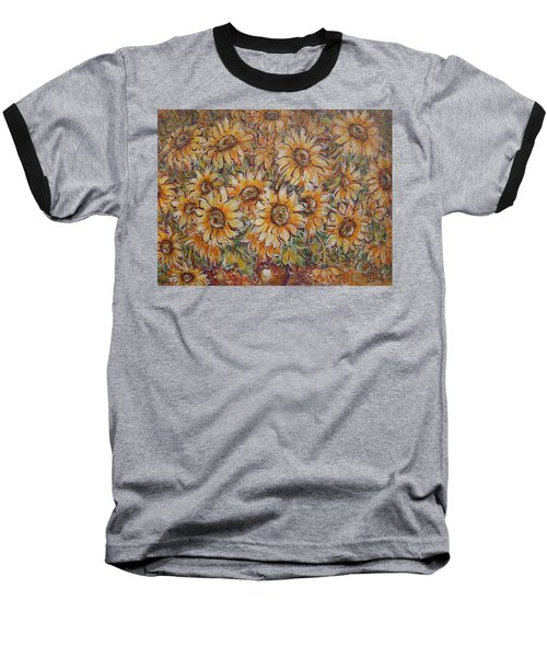 Baseball T-Shirt featuring the painting Sunlight Bouquet. by Natalie Holland
