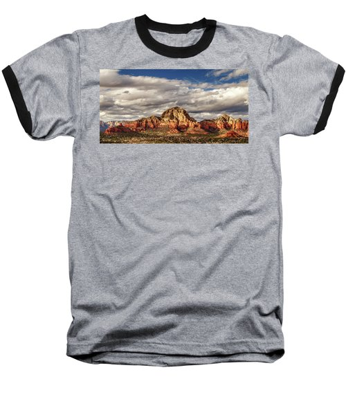 Baseball T-Shirt featuring the photograph Sunlight On Sedona by James Eddy