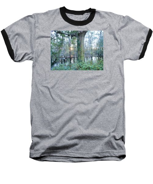 Sunlight On The Edisto River Baseball T-Shirt by Kay Gilley