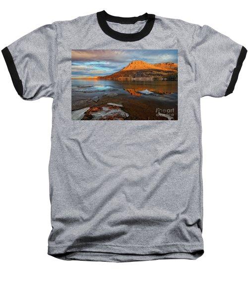Sunlight On The Flatirons Reservoir Baseball T-Shirt