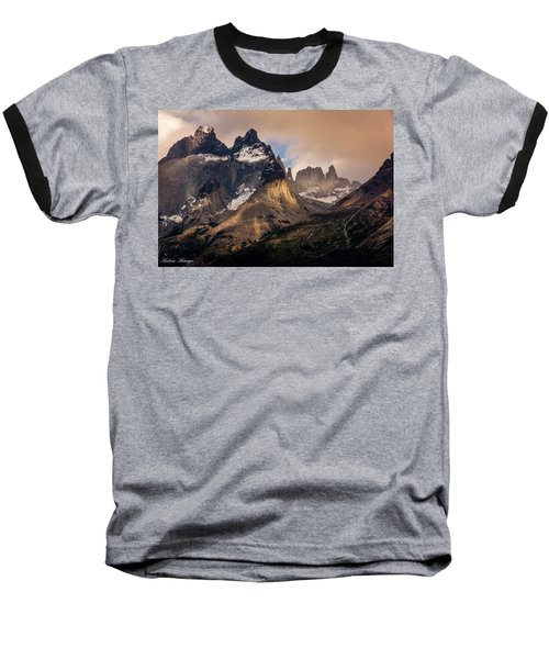 Baseball T-Shirt featuring the photograph Sunlight On The Mountain by Andrew Matwijec