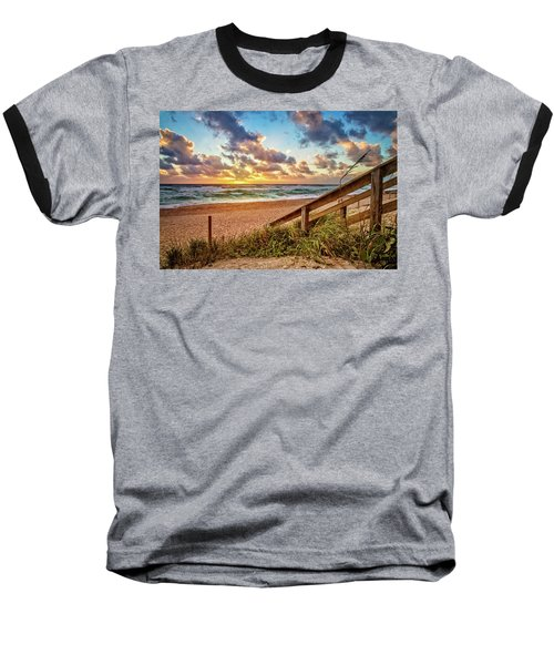 Baseball T-Shirt featuring the photograph Sunlight On The Sand by Debra and Dave Vanderlaan