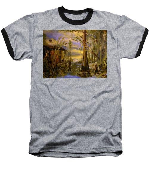 Sunlight On The Swamp Baseball T-Shirt