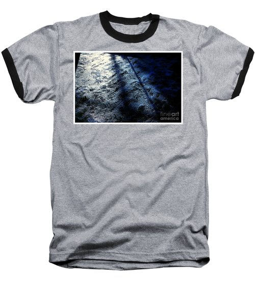 Sunlight Shadows On Ice - Abstract Baseball T-Shirt