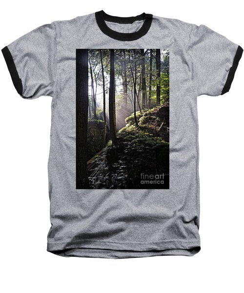 Sunlight Through Trees At Beartown State Park 3129c Baseball T-Shirt