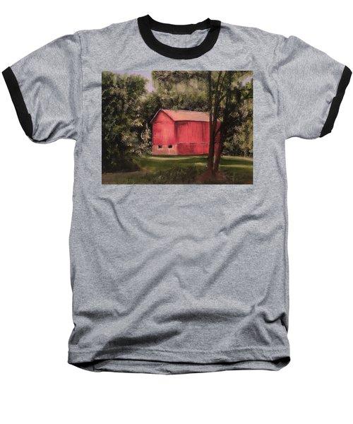 Sunlit Barn Baseball T-Shirt by Sharon Schultz
