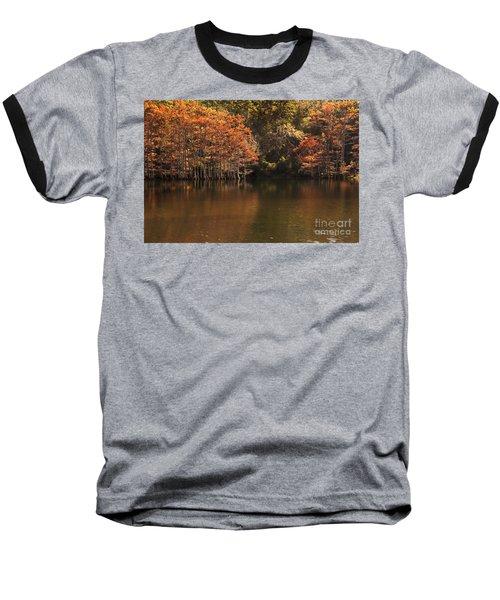 Sunlit Cypress Trees On Beaver's Bend Baseball T-Shirt