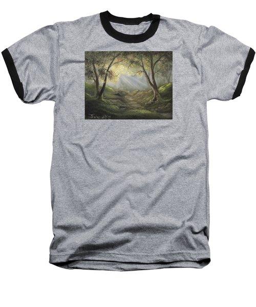 Sunlit Forrest  Baseball T-Shirt