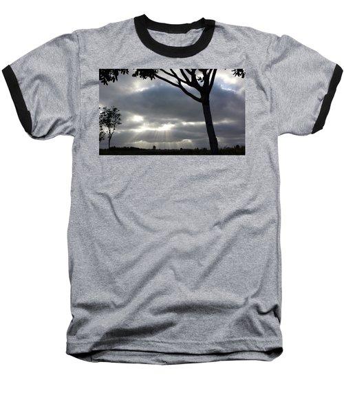 Sunlit Gray Clouds At Otay Ranch Baseball T-Shirt by Karen J Shine