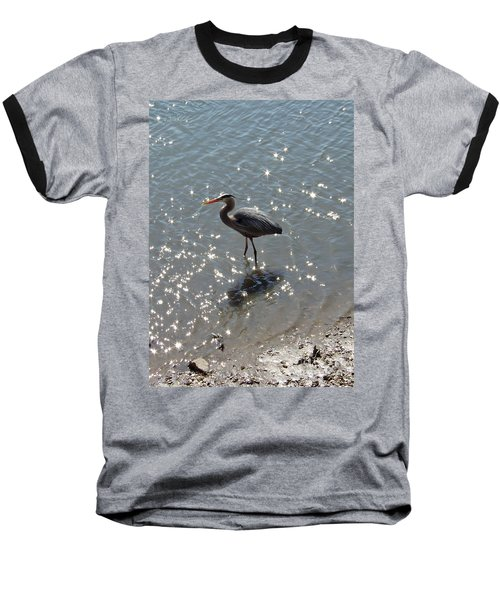 Baseball T-Shirt featuring the photograph Sunlit Heron by Carol  Bradley