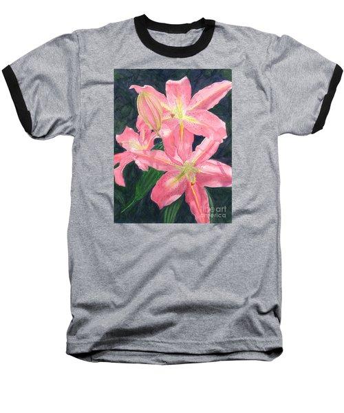 Sunlit Lilies Baseball T-Shirt