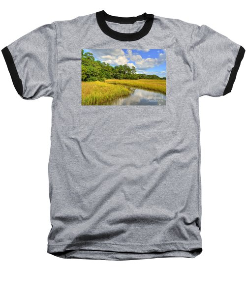 Sunlit Marsh Baseball T-Shirt