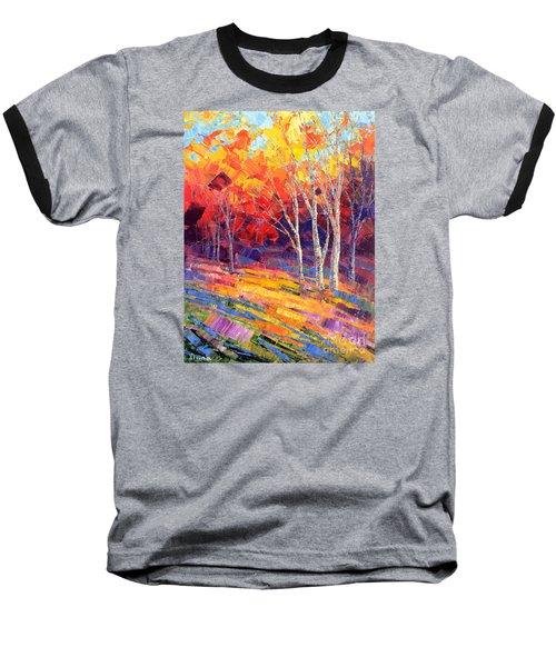 Sunlit Shadows Baseball T-Shirt by Tatiana Iliina