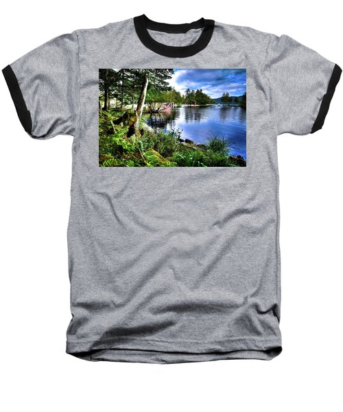Baseball T-Shirt featuring the photograph Sunlit Shore At Covewood by David Patterson