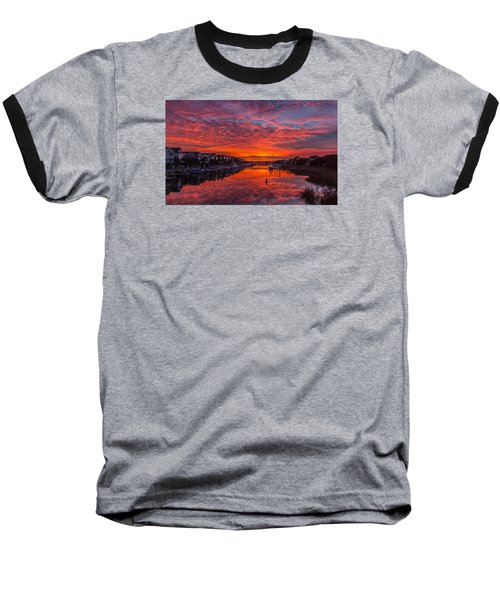 Sunlit Sky Over Morgan Creek -  Wild Dunes On The Isle Of Palms Baseball T-Shirt