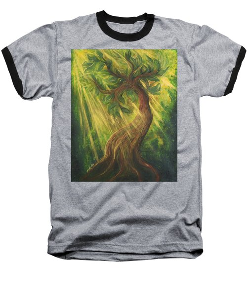 Sunlit Tree Baseball T-Shirt