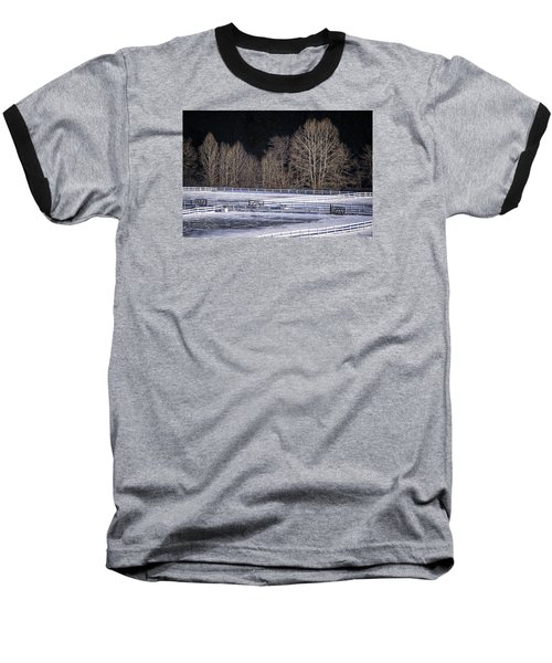 Sunlit Trees Baseball T-Shirt by Tom Singleton