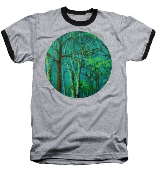 Sunlit Woodland Path Baseball T-Shirt