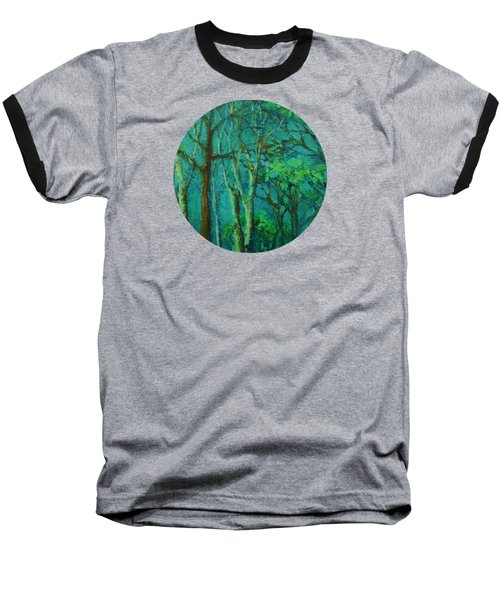 Sunlit Woodland Path Baseball T-Shirt