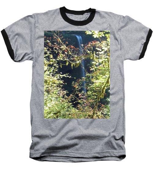 Baseball T-Shirt featuring the photograph Sunlite Silver Falls by Thomas J Herring