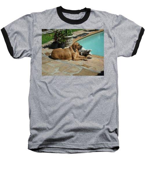Sunning Baseball T-Shirt by Val Oconnor