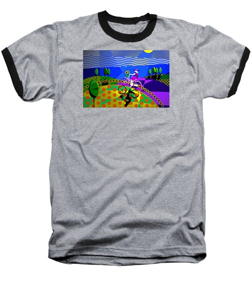 Baseball T-Shirt featuring the digital art Sunny Acres by Randall Henrie