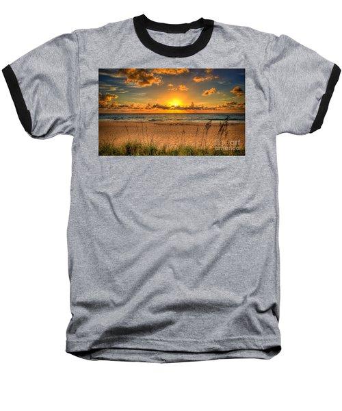 Sunny Beach To Warm Your Heart Baseball T-Shirt by Rod Jellison
