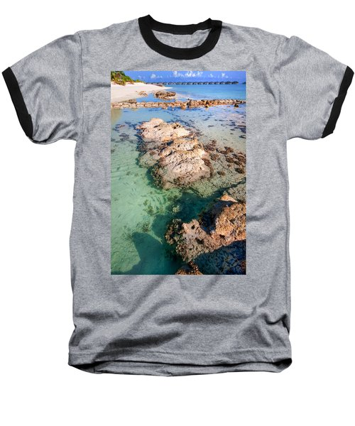 Baseball T-Shirt featuring the photograph Sunny Day At Maldivian Resort by Jenny Rainbow