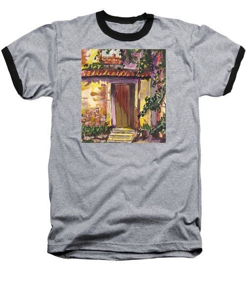 Baseball T-Shirt featuring the digital art Sunny Doorway by Darren Cannell