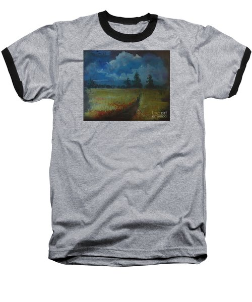 Baseball T-Shirt featuring the painting Sunny Field by Christina Verdgeline