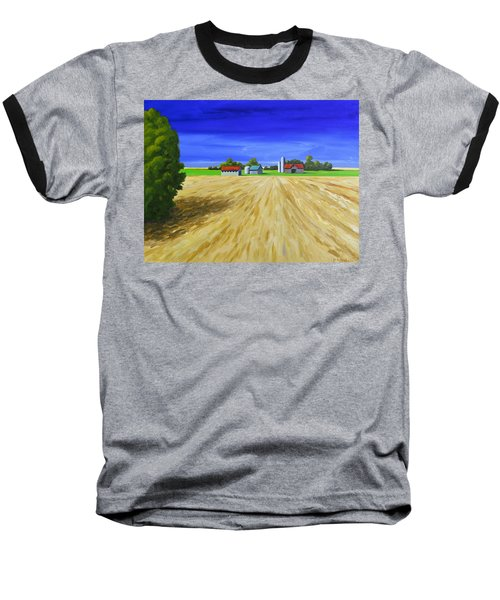 Baseball T-Shirt featuring the painting Sunny Fields by Jo Appleby