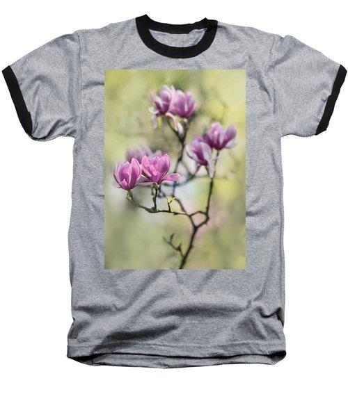 Sunny Impression With Pink Magnolias Baseball T-Shirt