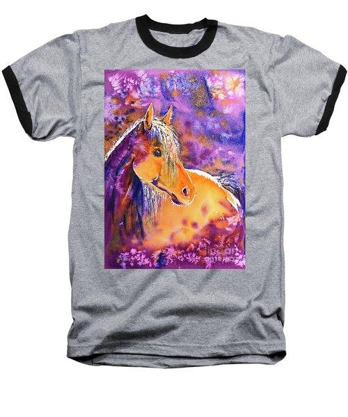 Baseball T-Shirt featuring the painting Sunny Mare by Zaira Dzhaubaeva