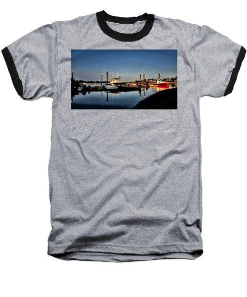 Sunny Morning At Onset Pier Baseball T-Shirt