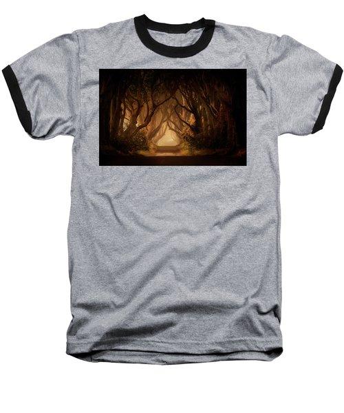 Sunny Morning In Dark Hedges Baseball T-Shirt