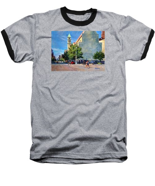 Summer Morning Near St. Michael's Church, Amsterdam Ave. Baseball T-Shirt