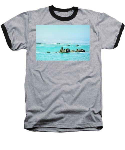 Sunny Pacific Ocean Oregon Coast Baseball T-Shirt
