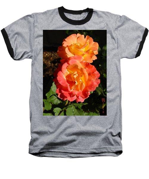 Sunny Roses Baseball T-Shirt