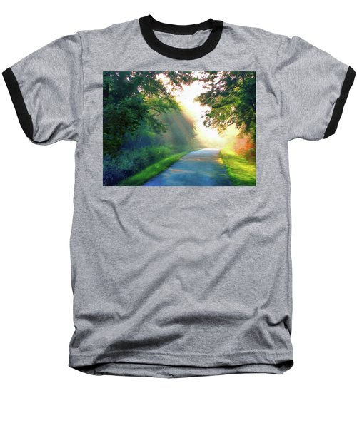 Sunny Trail Baseball T-Shirt by Cedric Hampton