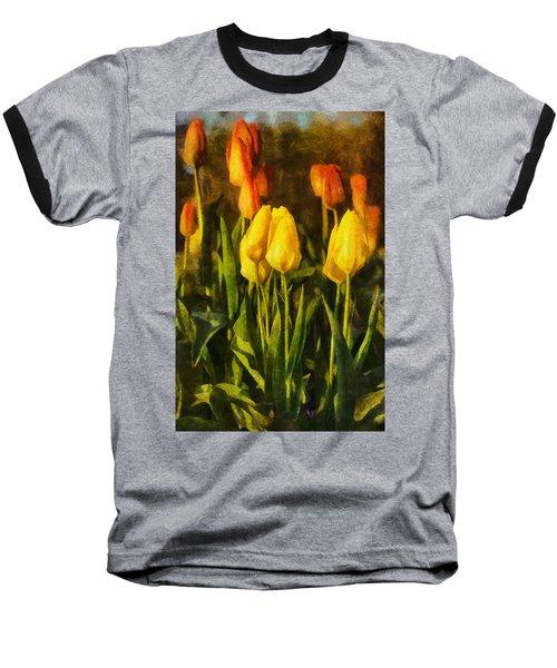 Sunny Tulips Baseball T-Shirt