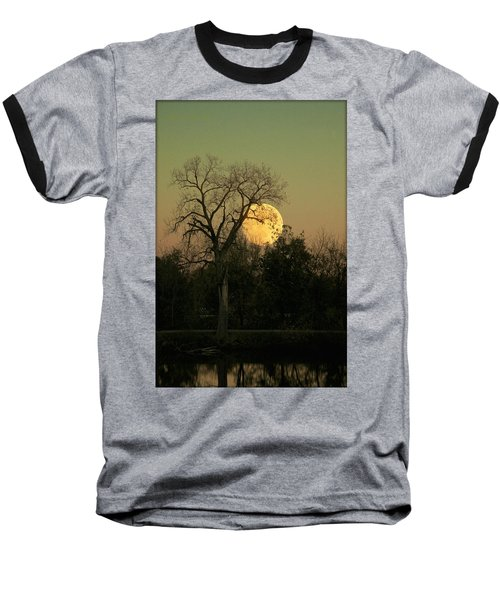 Baseball T-Shirt featuring the photograph November Supermoon  by Chris Berry